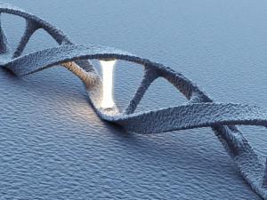 DNA helix molecules. Science concept. 3D Illustration